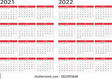 Calendar year 2021 2022 design