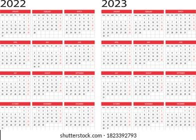 Calendar year 2022 2023 design