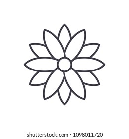 Calendula line icon concept. Calendula flat vector sign, symbol, illustration.