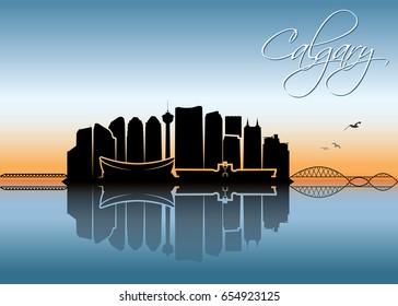 Calgary skyline - Canada - vector illustration