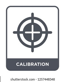 calibration icon vector on white background, calibration trendy filled icons from Measurement collection, calibration simple element illustration