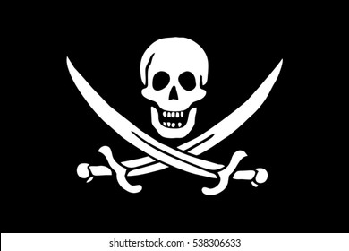 Calico Jack Pirate Flag. Vector Format