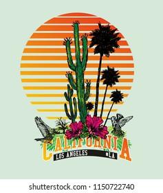 California birds graphic design vector art