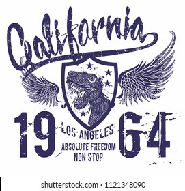 California Dinosaur graphic design vector art