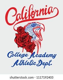 California Eagle graphic design vector art