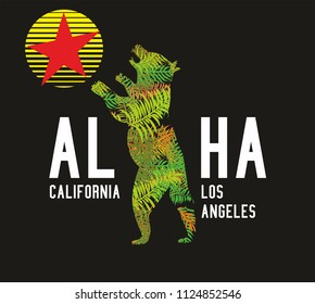 California graphic design vector art