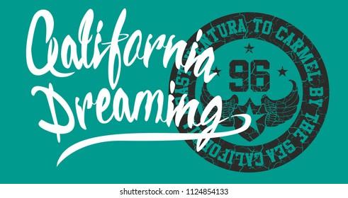 California Hike graphic design vector art