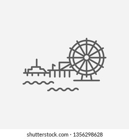 California icon line symbol. Isolated vector illustration of  icon sign concept for your web site mobile app logo UI design.