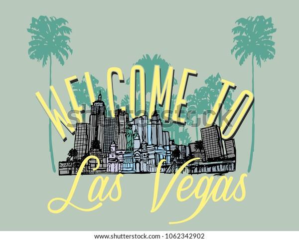 California Las Vegas graphic design vector art