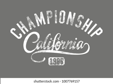 California Los angeles graphic design vector art