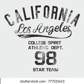 California Los Angeles graphic design vector artwork