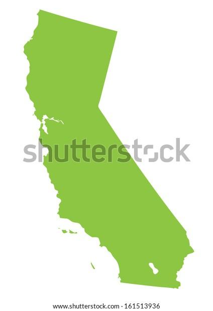 California Map Shutterstockcom.California Map Green On White Background Stock Vector Royalty Free