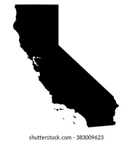 California map on white background vector