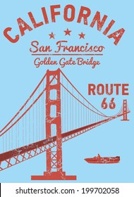 california san francisco golden gate bridge vector art