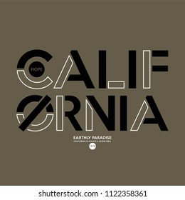 california slogan, for T-shirt printing design and various jobs