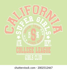 California slogan vector illustration for t-shirt and other uses