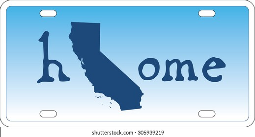 California state license plate vector