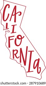 California State Outline and Hand-lettering