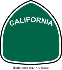 California State Route Marker Vector Template