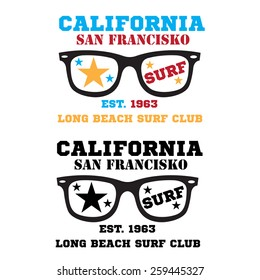 034e0426bcee Sunglasses Lifeguard Beach Typography Tshirt Graphics Stock Vector ...