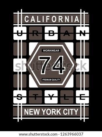 California Urban Style New York City Stock Vector Royalty Free