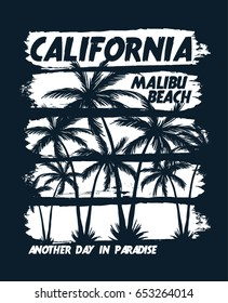 California vector illustration for t-shirt and other uses.