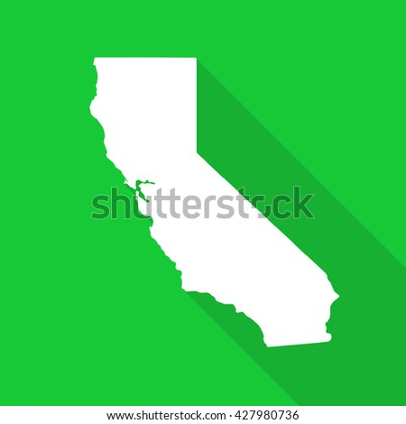 California White State Mapborder Flat Simple Stock Vector Royalty