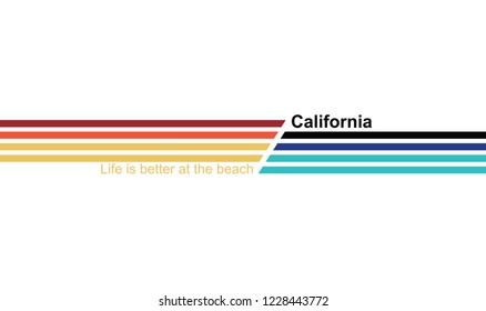 california writing for T-shirt printing design and various jobs, typography,  vector.