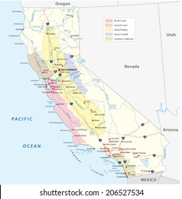 california's wine regions map