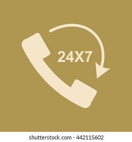 Call 24X7' Icon.