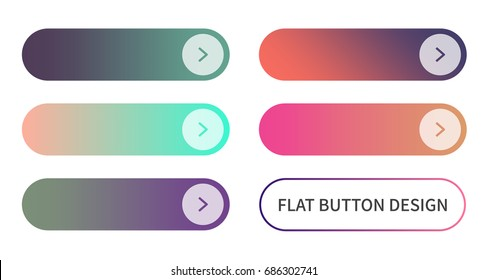 Call to action buttons set flat design ; blank buttons vector illustration with colorful gradient or color transition for your brilliant design web button, mobile devices, icons, banner and more.