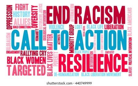 Call To Action word cloud on a white background.