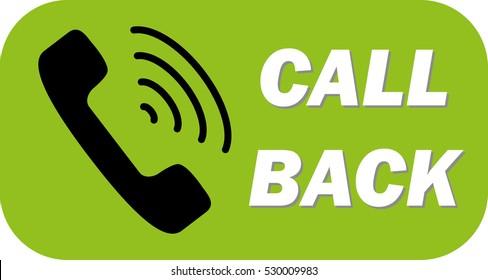 Call back button. Vector Illustration