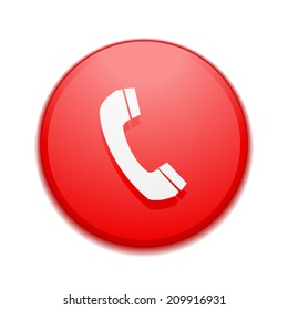 Red Phone Icon Images, Stock Photos & Vectors | Shutterstock