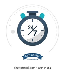 call center clock time service