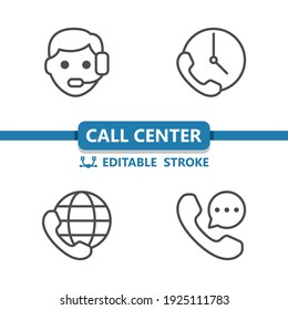Call Center - Customer Support - Customer Service Icons. Professional, pixel perfect icons. EPS 10 format.