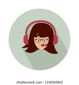 call center. Female support service / customer care / customer service / administrator vector illustration