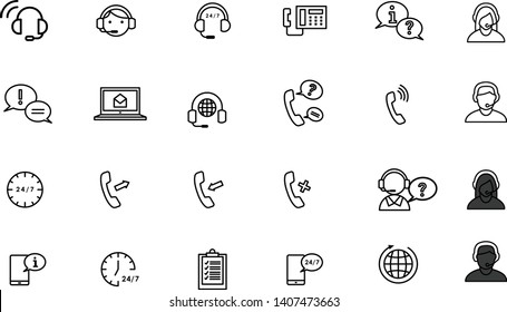 call center help, Support and Contact Vector Flat Line Icons Set. Phone Assistant, Online Help icons with easy to  use and edit