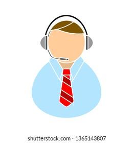 call center icon - call center isolated, customer service illustration- Vector help-center