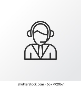 Call Center Icon Symbol. Premium Quality Isolated Operator Call Center Icon Element In Trendy Style.