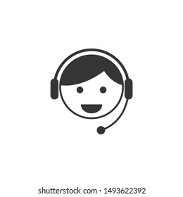 Call center icon template color editable. Support service symbol vector sign isolated on white background. Simple logo vector illustration for graphic and web design.