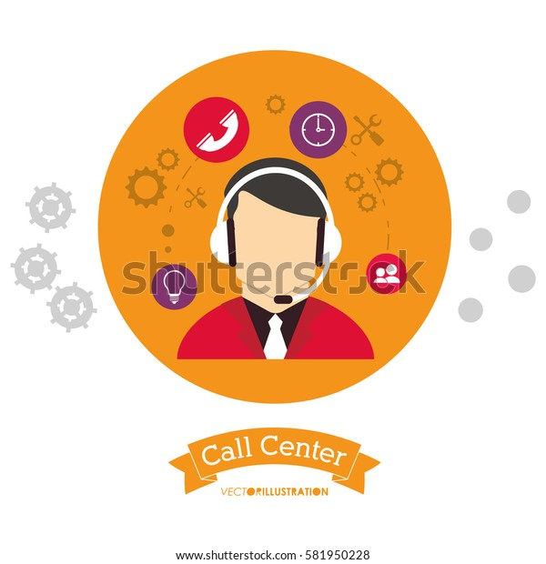 call center people working with head