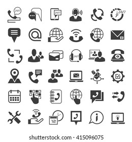 call center service icons, customer service icons, contact icons