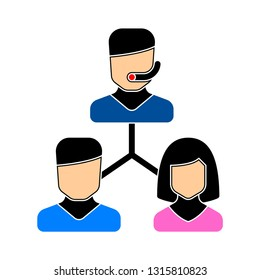 call center. support service.  customer care or customer service - administrator vector illustration