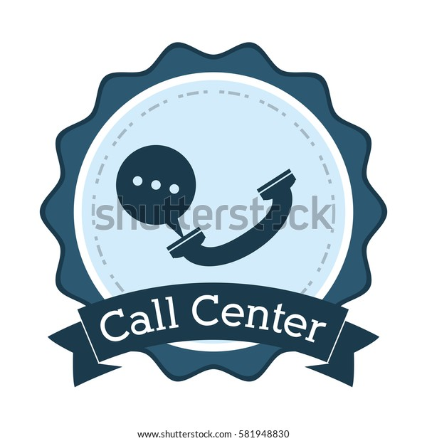 call center telephone helpline communication badge