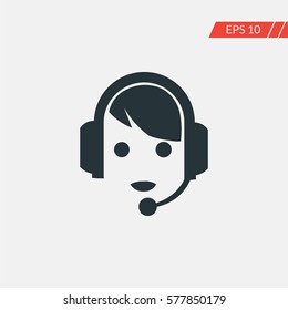 Call center vector icon