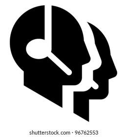 Call center vector icon