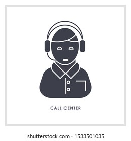 Call center vector icon illustration sign