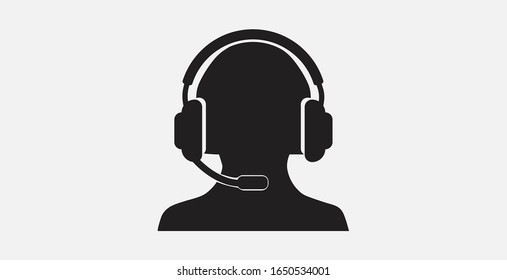 Call center vector icon. Call center service icon vector illustration. Customer support icon