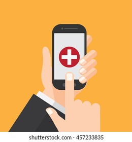 call hospital or emergency. hot line , ambulance. mobile or cellphone user.